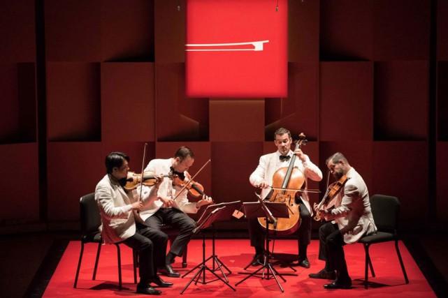 Le Quatuor Miró, des États-Unis, en concert hier... (PHOTO MARIE-PIERRE TREMBLAY, FOURNIE PAR L'ACADÉMIE DE MCGILL)