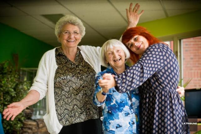 Marie-Marthe Martel et Eda Tarlo sont très heureuses... (Imacom, Jessica Garneau)