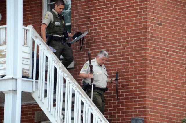Les policiers sont intervenus sur les lieux d'une... (Collaboration spéciale, Éric Beaupré)