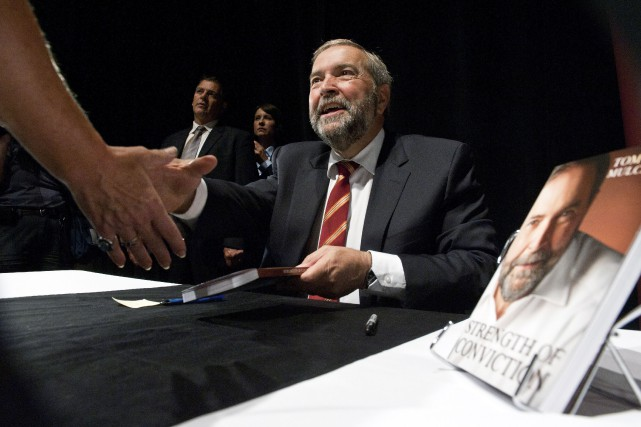 Le chef néo-démocrate Thomas Mulcair a lancé son... (La Presse Canadienne, Galit Rodan)