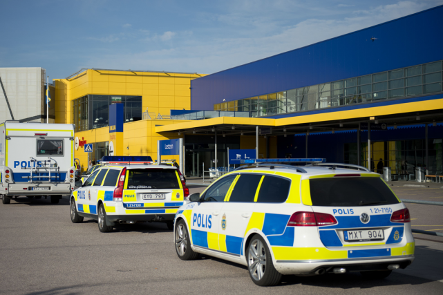 Le magasin Ikea de la ville de Västerås,où... (Photo Jonathan Nackstrand, AFP)