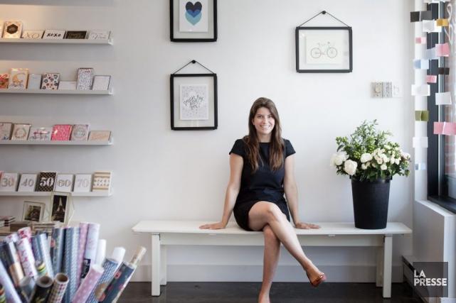 Jessyca Houle, propriétaire de la nouvelle boutique Boucle... (PHOTOS MARCO CAMPANOZZI, LA PRESSE)