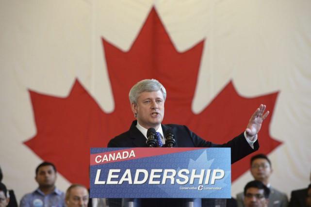 Stephen Harper était de passage à Markham, en... (La Presse Canadienne, Sean Kilpatrick)