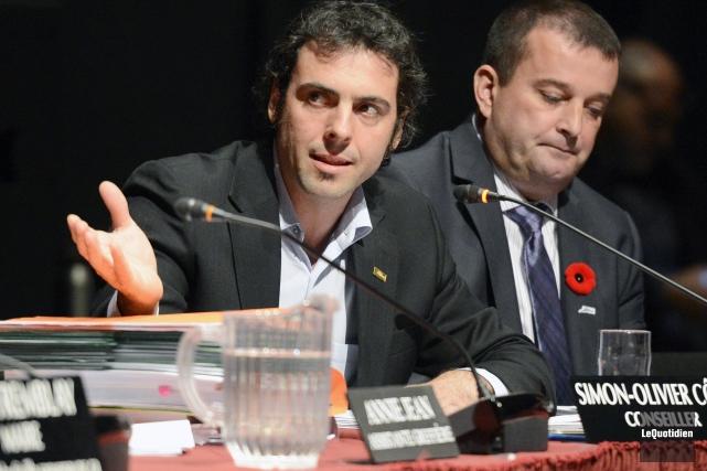 Le conseiller Simon-Olivier Côté.... ((Archives Le Quotidien))