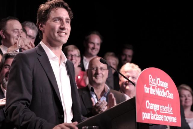 Justin Trudeau était à Montréal lundi.... (PHOTO AFP)