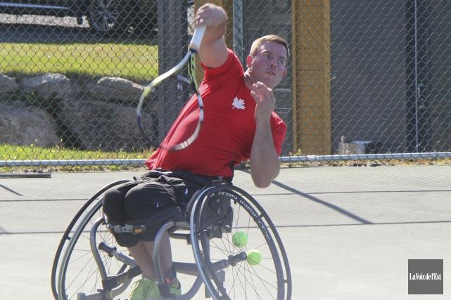 Le joueur de tennis en fauteuil roulant Philippe... (photo archives La Voix de l'Est)