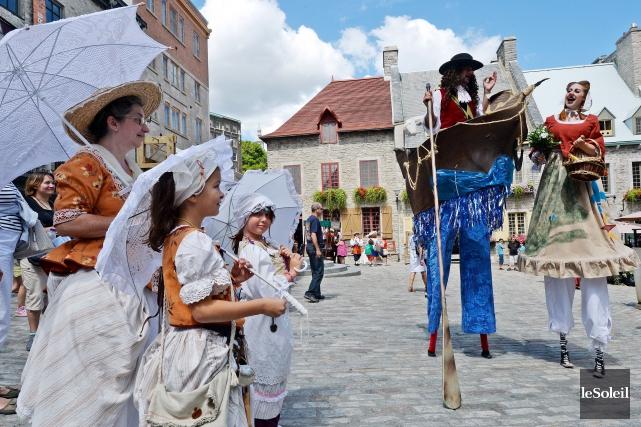 Les Fêtes de la Nouvelle-France pourraient quitter le... (Le Soleil, Erick Labbé)