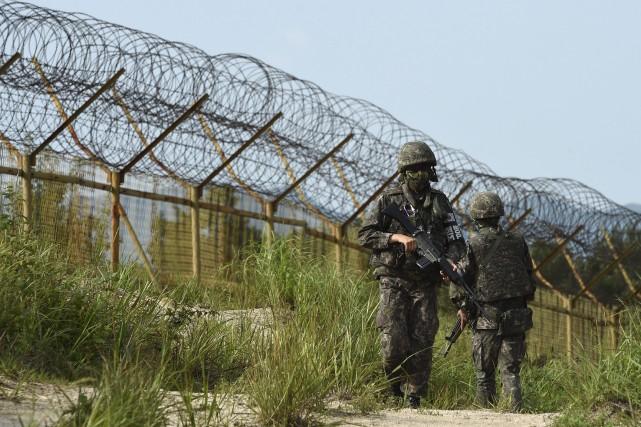 Deux soldats sud-coréens ont été mutilés la semaine... (PHOTO AP/MINISTÈRE DE LA DÉFENSE SUD-CORÉEN)