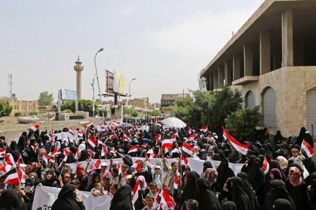 Pendant sa visite à Sanaa, Stephen O'Brien, adjoint... (PHoto Khaled Abdullah, Reuters)