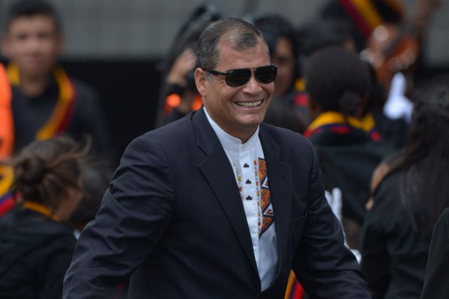 Le président Rafael Correa... (PHOTO MARTIN BERNETTI, archives AFP)