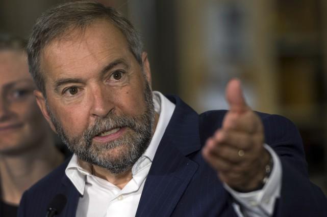 ThomasMulcair prononcera mercredi après-midi une allocution au Château... (La Presse Canadienne, Ryan Remiorz)