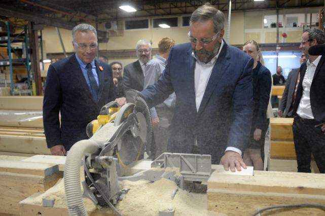 Le chef néo-démocrate Thomas Mulcair a scié du... (Photo Ryan Remiorz, PC)
