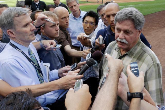 Le directeur général des Brewers de Milwaukee, Doug... (Photo Morry Gash, AP)