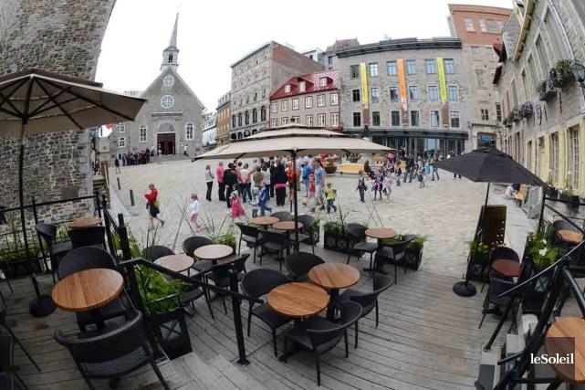 Les commerçants de la place Royale et du... (Photothèque Le Soleil, Patrice Laroche)