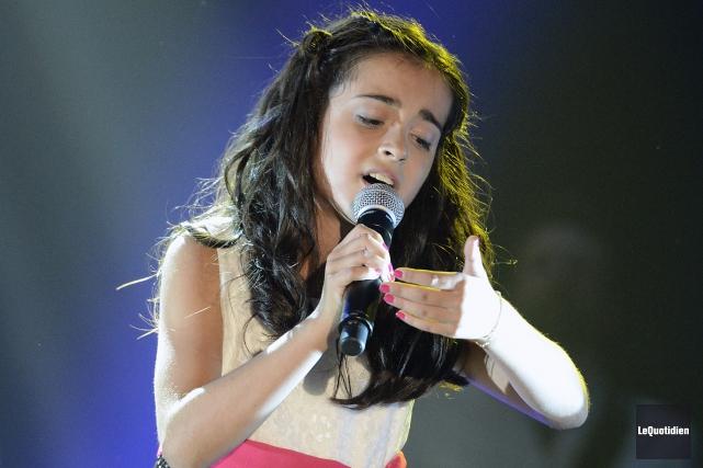 Même la jeune Ariane Morin, 11 ans, de... ((Photo Le Quotidien, Jeannot Lévesque))