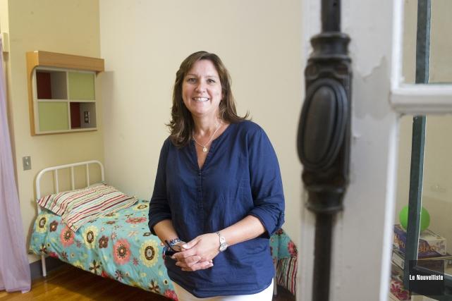 Nathalie Houle, responsable de la résidence étudiante au... (Photo: Stéphane Lessard Le Nouvelliste)