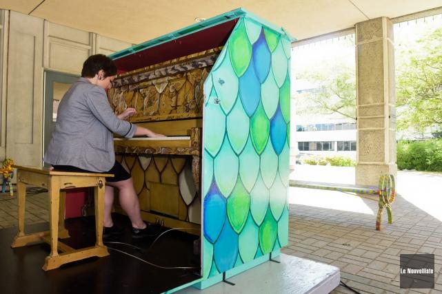 Le piano situé à l'extérieur du Musée québécois... (Photo: François Gervais Le Nouvelliste)