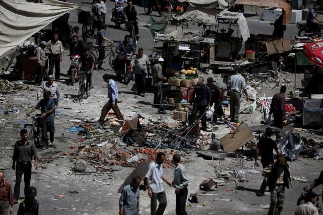 Les quartiers résidentiels de la capitale sont régulièrement... (PHOTO BASSAM KHABIEH, REUTERS)