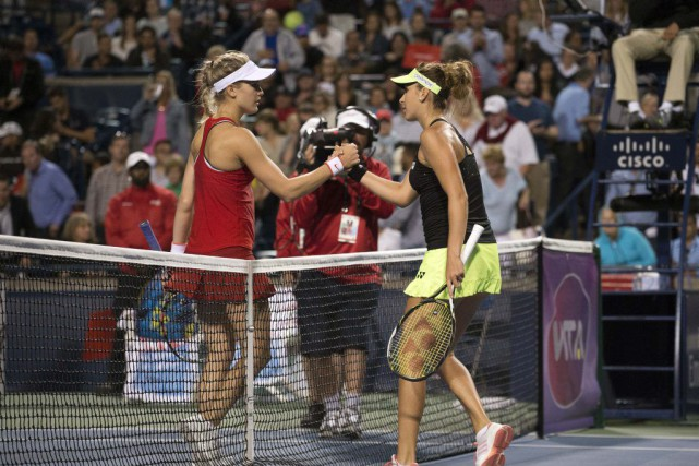 Eugenie Bouchard a perdu en trois sets contre... (USA Todays Sports)