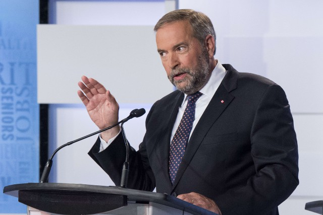 Le chef du NPD, Thomas Mulcair... (Archives AFP)