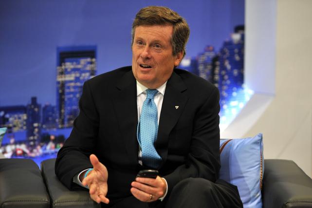 Le maire de Toronto, John Tory.... (Photo Eva Hambach, AFP)