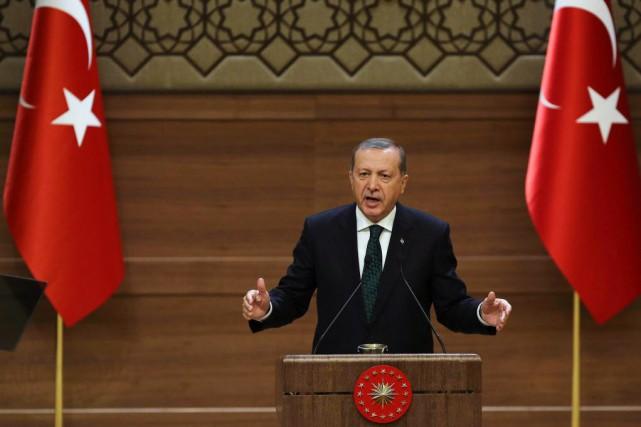 Le président islamo-conservateur, Recep Tayyip Erdogan.... (Photo ADEM ALTAN, AFP)