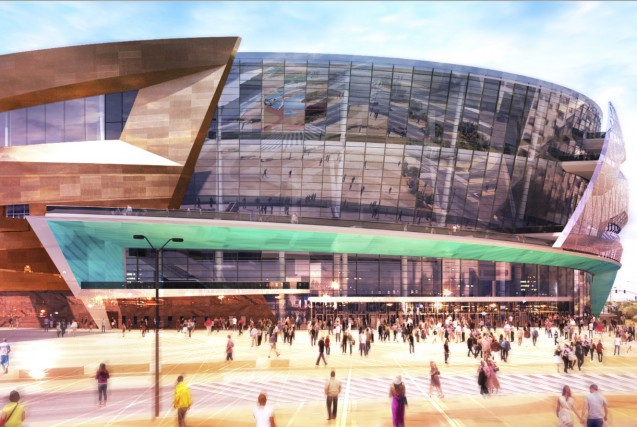 L'aréna de Las Vegas a aussi été conçu... (Image fournie par Populous)