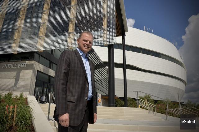 Benoît Robert, président du Groupe sport et divertissement... (Le Soleil, Pascal Ratthé)