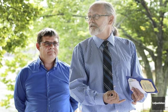 Douglas Schroeder-Tabah, vice-président de la Corporation de vitalisation... ((Photo Le Quotidien-Rocket Lavoie))