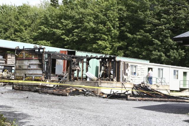 L'atelier d'assemblage de pièces pyrotechniques a été complètement... (photo Janick Marois)