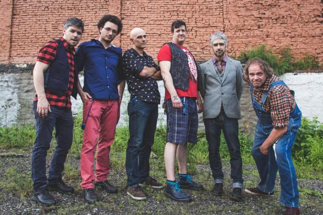 Simon Lavallée, Étienne Bourré-Denis, Max Doré, Éric Roberge,... (Photo Jo-Anick Lafrance-Bolduc)
