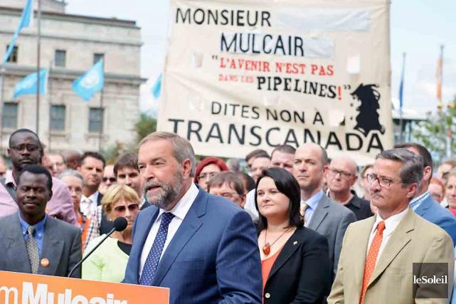 De passage à Québec mercredi, le chef néo-démocrate,... (Le Soleil, Yan Doublet)