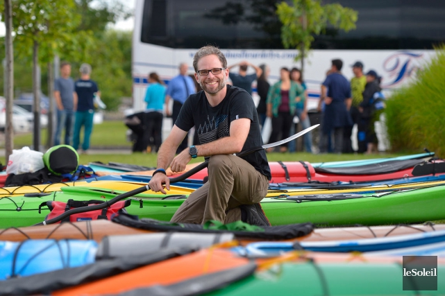 Jean-Sébastien Massicotte fait partie des 140 kayakistes à... (Le Soleil, Yan Doublet)