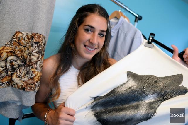 La jeune femme d'affaires Bianca Nolin, 22 ans,... (Le Soleil, Erick Labbé)
