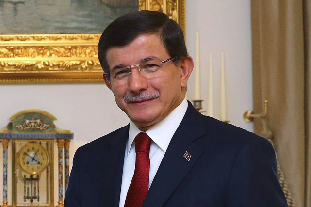 Le premier ministre turc Ahmet Davutoglu... (PHOTO AFP/BUREAU DU PREMIER MINISTRE TURC)
