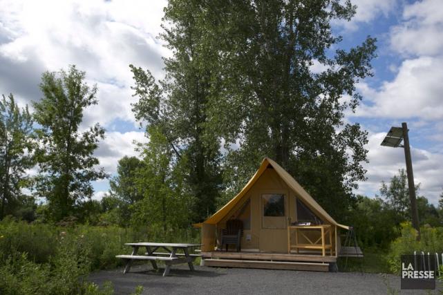 Le camping de l'île Grosbois est à l'image... (PHOTO FRANCOIS ROY, LA PRESSE)