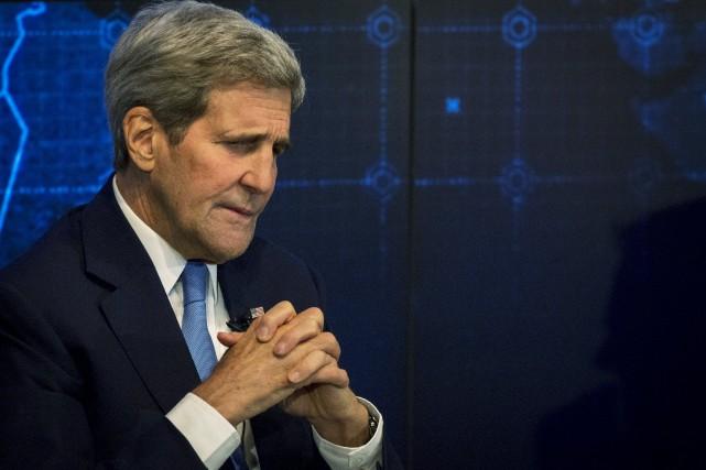 Le secrétaire d'État des États-Unis, John Kerry... (Photothèque Le Soleil)