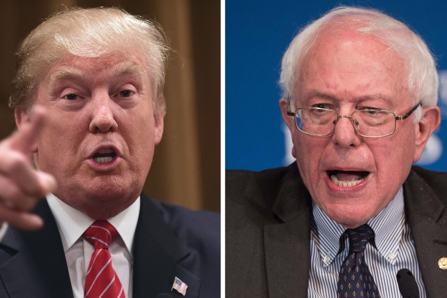 Donald Trump et Bernie Sanders... (PHOTO ARCHIVES AFP)