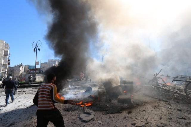 Selon des ONG, ces attaques sont l'une des... (Photo ZEIN AL-RIFAI, AFP)