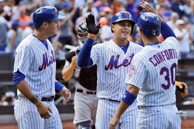 Les Mets de New York ont gagné 11... (Photo Seth Wenig, AP)