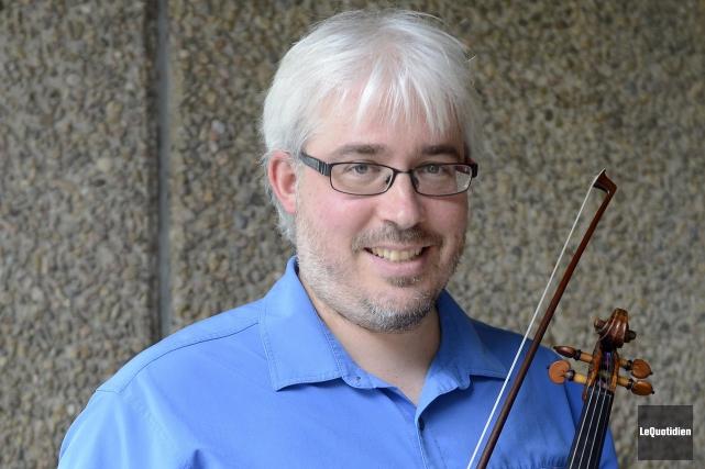 Le violoniste Renaud Lapierre participera aux quatre concerts... ((Photo Le Quotidien, Jeannot Lévesque))