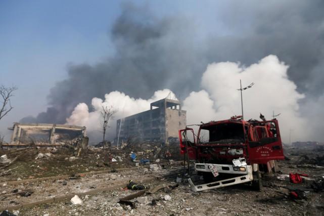 Les déflagrations sont parties d'un entrepôt de la... (PHOTO AFP)