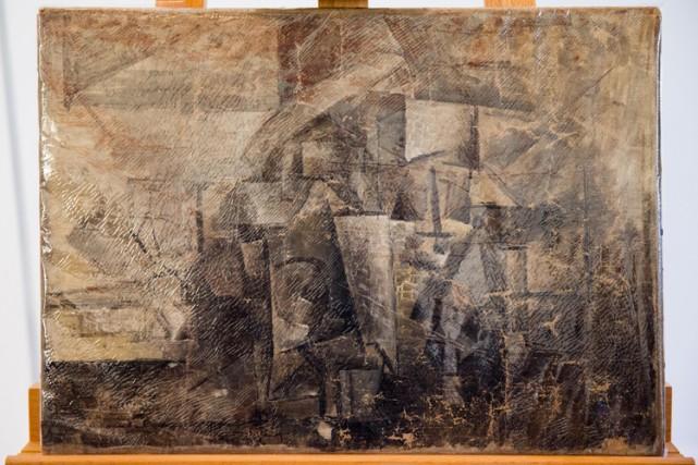 Cette huile sur toile date de l'époque cubiste... (PHOTO AP)