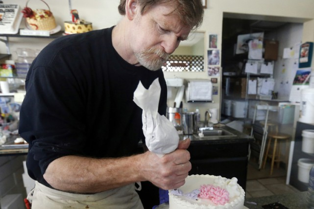 Le pâtissier Jack Phillips a été poursuivi par... (PHOTO AP)