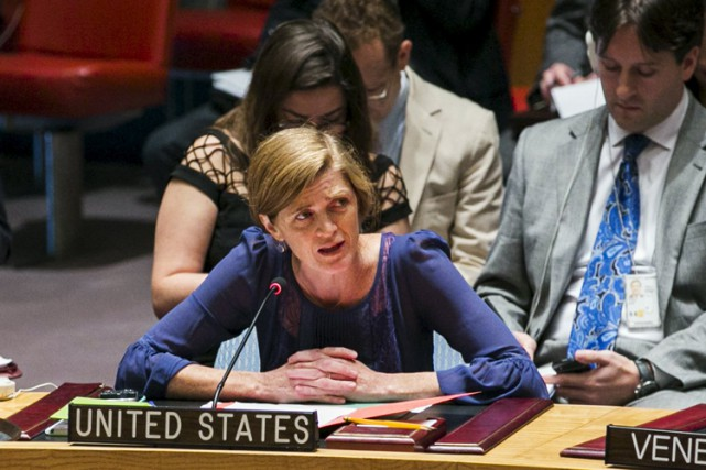 L'ambassadrice des États-Unis aux Nations unies, Samantha Power.... (PHOTO REUTERS)