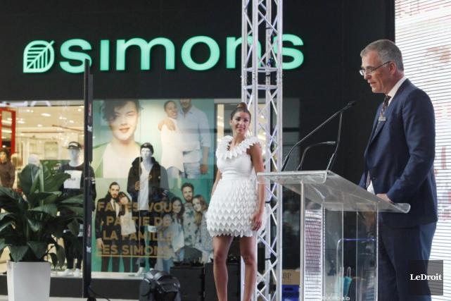Le président de Simons, Peter Simons, lors de... (Photo: Le Droit)