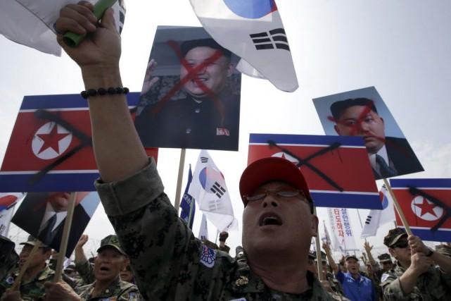 Les deux Etats rivaux sont toujours techniquement en... (Photo Lee Jin-man, AP)