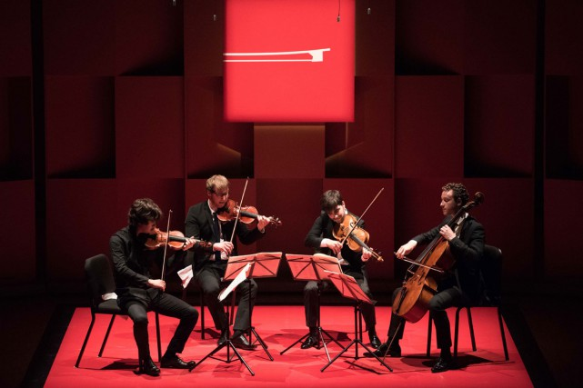 Le Quatuor Van Kuijk, de France, en concert... (PHOTO MARIE-PIERRE TREMBLAY, FOURNIE PAR L'ACADÉMIE DE MCGILL)