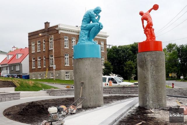 Installée à Beauport, la sculptureDe l'eau sur le... (Le Soleil, Erick Labbé)
