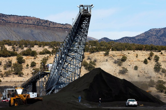 La mine Wildcat Coal située à Price, en Utah.... (PHOTO GEORGE FREY, BLOOMBERG)
